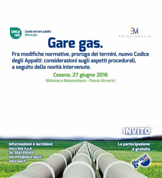 Gare gas e Nuovo Codice degli Appalti e delle Concessioni