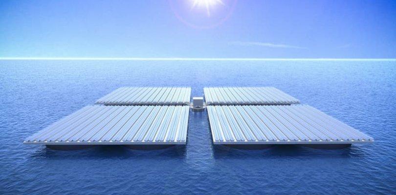Pannelli solari in alto mare